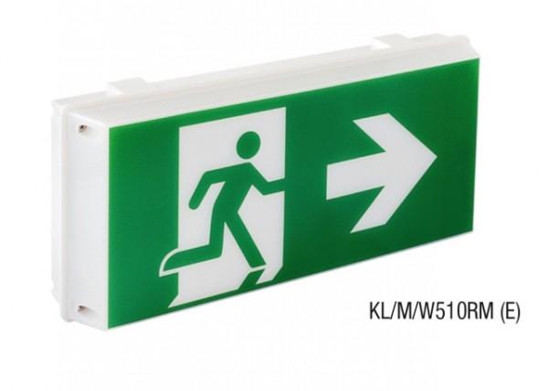 Đèn Thoát Hiểm Có Bảng Chỉ Dẫn 1 Mặt Hình Người Chạy MAXSPID KL/M/W510RM (E)
