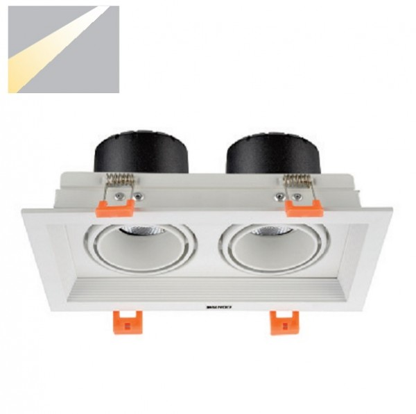 Đèn Led âm trần đôi 2*12W ELV802F