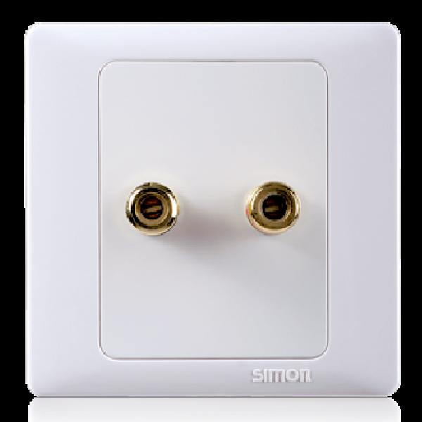 Ổ cắm loa đơn sử dụng trong hệ thống âm thanh Simon 55401