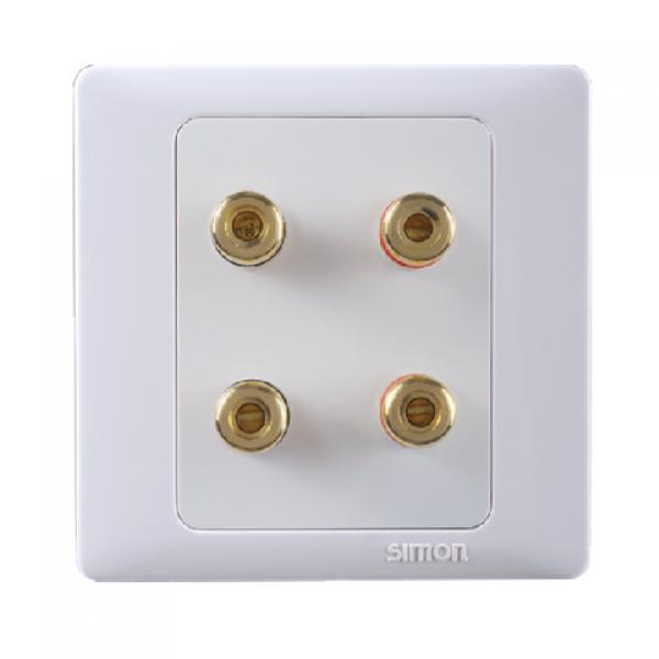 Bộ đôi ổ cắm loa sử dụng trong hệ thống âm thanh Simon 55402
