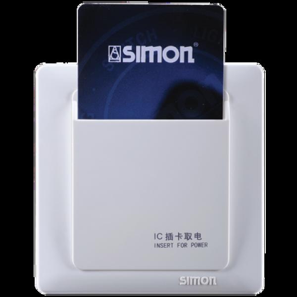 Công tắc thẻ IC, AC 220V, điện trở 16AX hoặc cảm ứng 8AX Simon 55503IC