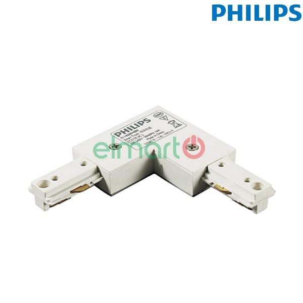 Đầu nối chữ L thanh track lắp đèn chiếu điểm ZCS170 1C LCP WH, màu trắng