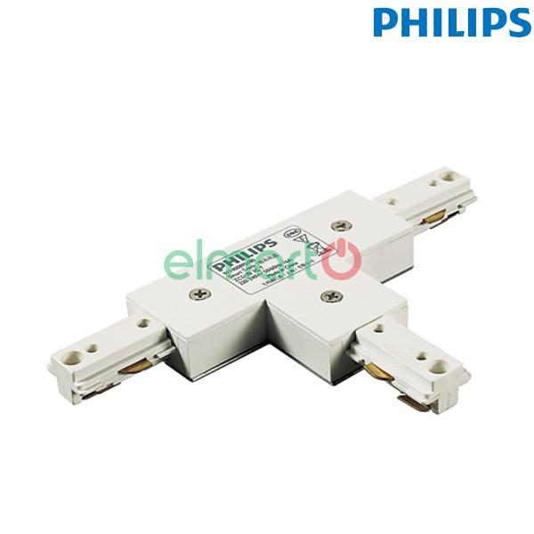 Đầu nối chữ T thanh track lắp đèn chiếu điểm ZCS170 1C TCP WH, màu trắng